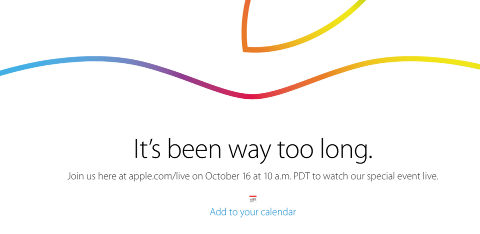 Apple Invite October